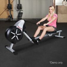 Rowing Machine Foldable Air Resistance System Cardio Workout Fitness Exercise