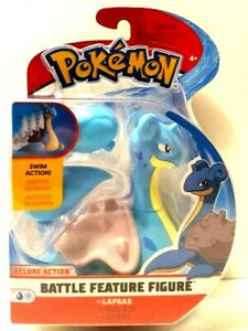 Pokemon Lapras Battle Feature Figure With Deluxe Swimming Action NEW Kids Toy