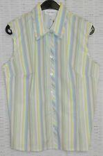 Ärmellose Taillenlang Damenblusen,-Tops & -Shirts im Blusen-Stil mit Klassischer Kragen