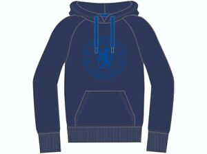 Chelsea FC Official Football Gift Mens Teenagers Fleece Graphic Hoody Navy