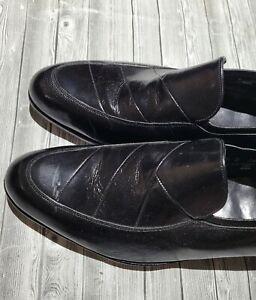 Florsheim Men's Black Leather Slip On Dress Loafers Sz 7.5