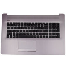 New for HP 17-CA 17-BY Laptop Palmrest Upper Case Keyboard w/Touchpad Pink