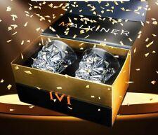 MALVINER VAYU Luxury Whiskey Glasses set of 2 Old Fashioned Vintage Rocks