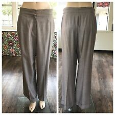 ESCADA Trouser Pants Wool Silk Elastane Blend High Rise Career Size 36