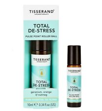 Tisserand TOTAL DE-STRESS Aromatherapy Pulse Point Essential Oil ROLLERBALL 10ml