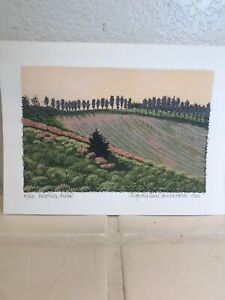 "MARTHA JANE BRADFORD ""Heather Field"" Small Limited EDITION HAND SIGNED 10/40"