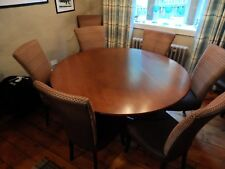 ** LARGE ROUND OAK REFECTORY PEDESTAL DINING TABLE **