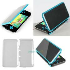 For Nintendo 2DS XL LL Clear Soft Protector Armour Touch Easily Cover Case 2Pcs