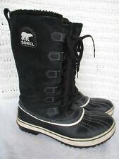 Sorel Tivoli High Women's Size 9 Waterproof Winter Snow Boots Black Suede