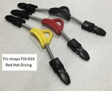 FSS-01X Spring fin straps with quick release buckles. 4 colours, 3 sizes