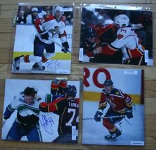 4 Signed Florida NHL 8x10 Photos  Ellerby, Allen, Tarnasky, Mellanby   FREE SHIP