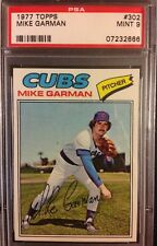 1977 Topps Mike Garman #302 - PSA 9 Mint Chicago Cubs Only 10 Graded 10!!!
