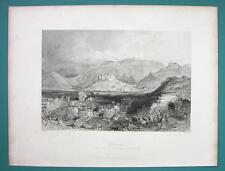 TURKEY Remains of Ephesus - 1840 Antique Print by Allom