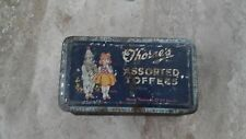 Vintage Toffee Tin Thornes Assorted Toffees design Girl & Clown