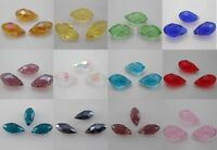 10-50 PCS 12x6mm Teardrop Shape Tear Drop Glass Faceted Loose Crystal Beads