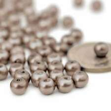 200pcs Bronze Glass Pearl Beads Spacer 4x4mm Round Loose Crafts GP0001-27