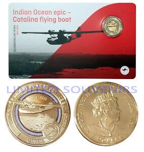 2020 $1 Qantas Centenary Coloured Coin Catalina Flying Boat Sunrise NEW SEALED