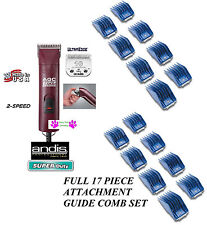 Andis SuperDuty 2-Speed CLIPPER&10 ULTRAEDGE BLADE & GUIDE COMB SET Pet Grooming