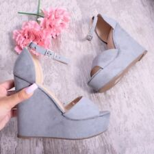 Unbranded Faux Suede Wedge Lace-up Heels for Women