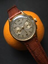 1940s Tissot Column Wheel Mens Chronograph Watch Omega 320 Cal. 35mm