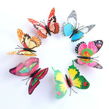 3D Wall Sticker  DIY Butterfly Butterfly Home Decor Room Stickers 24Pc/Set Color