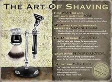 Signo de metal de estilo retro Vintage el arte del afeitado Barber Shop Cuarto de Baño Home Deco