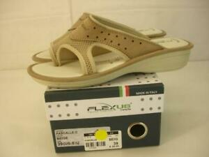 NIB Women's 8.5 39 FlexUs by Spring Step Pascalle Beige Italian Leather Sandals