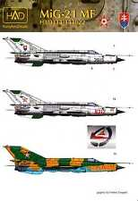 Hungarian Aero Decals 1/144 MIKOYAN MiG-21 MF Fighter Hungary & Slovakia