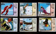 Laos 1988 Olympic Games Calgary / Shooting/Skiing/ Ice Hockey / Skating set used