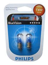 Philips 2 Stück T4W BlueVision 4 Watt 12 Volt 12929 Licht Autolampe Leuchte Ba9s