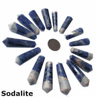 1 x Gemstone Crystal 12 Faceted DT Vogel Wand Point Reiki Healing Chakra 40mm