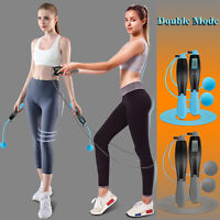 2-Use Mode Ropeless+Jump Rope Gym Exercise Boxing Skipping Bearing Speed Fitness