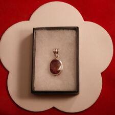 Orecchini di lusso naturale in argento con pietra principale rubino