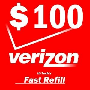 $100 VERIZON PREPAID > FASTEST < ONLINE REFILL 25yr USA TRUSTED DEALER