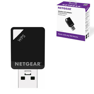 NETGEAR A6100-100PES USB WiFi AC600 802.11ac Dual Band 150/433 Mbps Mini Adapter