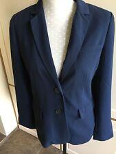 Womans Jack Wills Blazer 'Nesbit Crepe' Size 10 Uk Navy New RRP £98.50