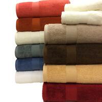 6 Piece 100% Cotton Plush Towel Set 2 Bath Towels 2 Hand Towels 2 Wash Cloths