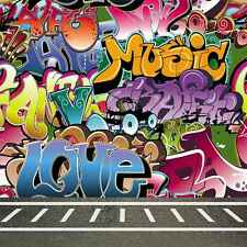Graffiti Wall 10'x10' CP Backdrop Computer printed Scenic Background CM-5665