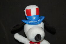 "UNCLE SAM USA METLIFE INSURANCE AD SNOOPY DOG 6"" Plush Stuffed Animal Lovey Toy"