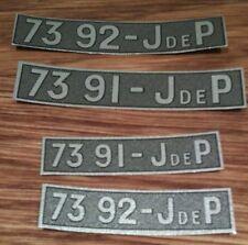 Plaque immatriculation papier avant pour voitures JEP de 32cm 7392