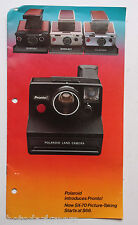 Polaroid SX-70 System Camera Ad Brochure Pamphlet Booklet - English - USED B45