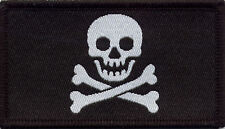 Jolly Roger Skull and Crossbones Pirate Badge Patch