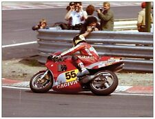 ansichtkaart Cagiva GP500 1985 #55 Marco Lucchinelli Spa Francorchamps