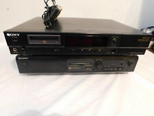 Pair 2 sony mini disc Decks Both for Repair or Parts with remote Mds-501 Je320