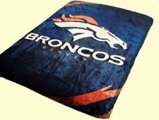 NFL Licensed Football Denver Broncos Royal Plush Queen Size Throw Blanket