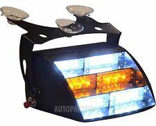 18 LED Windshield White Amber Yellow Emergency Truck Strobe Flash Light Warning