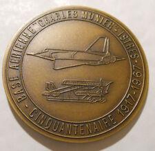 1917 1967 MÉDAILLE MILITAIRE BASE ISTRES 50MM AVIATION MONIER PILOTE CHASSE