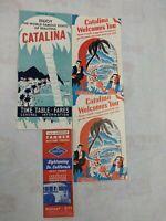 Lot of 3 1950s Vintage SANTA CATALINA ISLAND Travel Brochures & 1 LA Tanner Tour