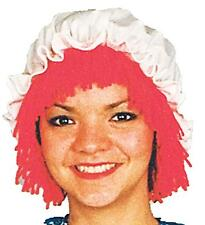 ADULT RAGGEDY ANN DOLL WIG HAT COSTUME FANCY DRESS NEW 12109