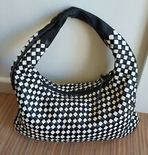 Ladies 'Bottega Veneta' Italian Designer Black & White Leather Handbag VGC!